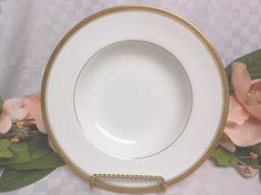 CoalPort China Dinnerware England Elite Gold Era 1970-1986 Large Rim soup #coalport