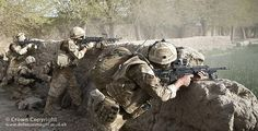 Soldiers of Charlie Company, 1 Rifles are caught in a firefight with Taliban fighters during Operation Tor Tapus in the Nawa area of Helmand, Afghanistan.