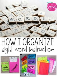 How I Organize Sight Word Instruction - The Sassy Apple