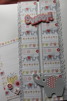 Its a Girl paper/sticker collection. The title I made myself. Baby Girl Scrapbook, Baby Scrapbook Pages, Scrapbook Borders, Scrapbook Titles, Birthday Scrapbook, Scrapbooking Layouts, Scrapbook Cards, Bride Shower, Border Ideas