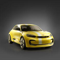 기아자동차의 콘셉트카 CUB 실용성과 드라이빙 퍼포먼스를 동시에 강조한 도시형 4도어 쿠페  KIA MOTORS' concept car CUB An urban 4-door coupe with an emphasis on practical value and driving performance