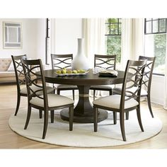7 Piece Round Dining Room Sets Gallery Dining regarding sizing 1000 X 816 7 Piece Round Kitchen Table Sets - With all the space available in homes today, Round Dining Table Sets, Dining Table Design, Dining Table In Kitchen, Dining Table Chairs, Dining Room Furniture, Round Kitchen, Side Chairs, Room Chairs, Modern Furniture