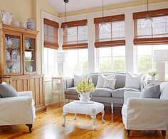 Space-Saver: Visually expand your space with a bare floor. An unbroken sweep of wood flooring is tops for making a room look larger. Angling furniture can also help prevent a room from feeling boxy./