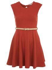 Petites Coral Textured Dress
