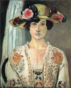 Woman in a Hat, 1920  Henri Matisse