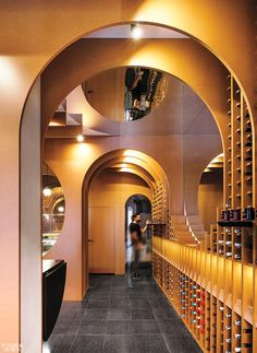 <p>Polished terrazzo tile recalls the stone found in the region's wine cellars. Photography by Imagen Subliminal.</p>