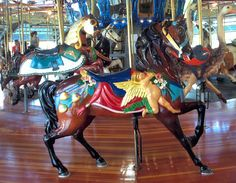 Carousel Works Outside Row Stander 1991 Dentzel Carousel Works Carousel at Richland Carrousel Park Mansfield, OH
