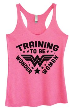 Womens Tri-Blend Tank Top - Training To Be Wonder Woman