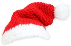 #crochet Santa Hat for Baby or to go on top of christmas tree :0)