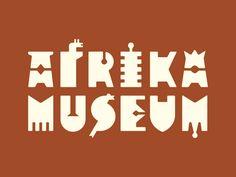 New identity Afrika Museum, Berg en Dal, NL by René Knip Typography Logo, Logos, Typography Design, Lettering, Business Card Design Inspiration, Typography Inspiration, Text Design, Logo Design, Graphic Design