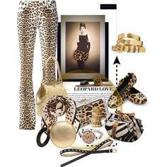 """""""Accessorize with Leopard Print & Gold"""" by betiboop8 on Polyvore"""