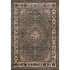 Home Dynamix Majestic Green 7 ft. 9 in. x 10 ft. 2 in. Area Rug - 1-H1128A-400 - The Home Depot
