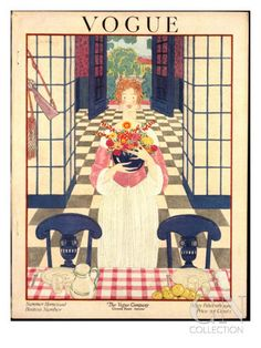 Vogue Cover - May 1919 Poster Print by George Wolfe Plank at the Condé Nast Collection