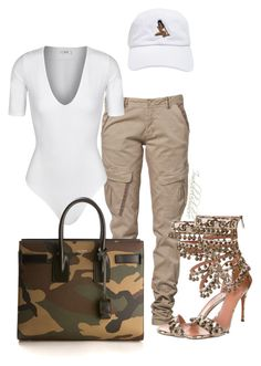 """""""Untitled #829"""" by styledbyjovon on Polyvore featuring CREAM, Alix, Alaïa and Yves Saint Laurent"""