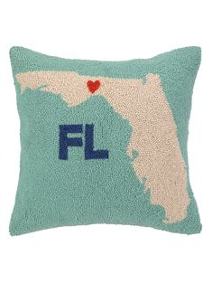 My Heart In Florida Pillow
