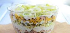 Warstwowa sałatka z tuńczykiem i porem - main