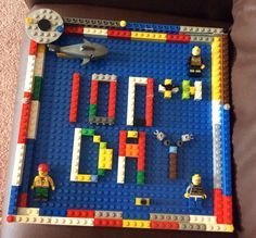100th day of kindergarten project! 100 Legos