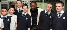 will.i.am met with young people from a Prince's Trust xl club