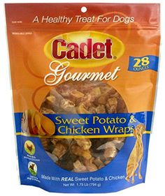 Cadet Chicken  Sweet Potato Dog Treat Wraps 28 oz -- Learn more by visiting the image link.