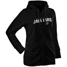 Antigua Jacksonville Jaguars Women's Left Chest Signature Full Zip Hoodie - Black