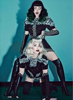 Celebrating the Power of Pop Madonna and Katy Perry Cover V89 Summer 2014