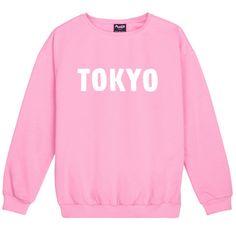 TOKYO SWEATER JUMPER womens ladies fun tumblr hipster swag fashion grunge kale punk retro vtg top kawaii city cute japan girls pink goth