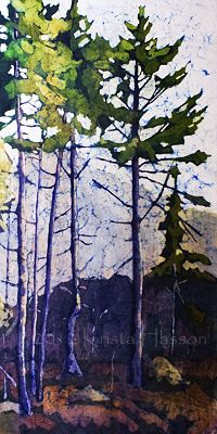 Krista Hasson's Fine Art Blog: Clearing - Rice Paper and Watercolor Painting