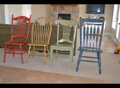 Old chairs made new........Love these chairs!