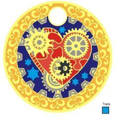Steampunk Heart Pathtag