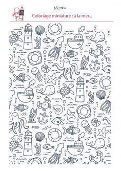 Coloriage à La Mer In 2019 Doodle Doodle Art Doodles