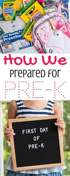 How We Prepared for Pre-K back to school bulletin boards back to school diy back to school hairstyles back to school highschool back to school id How We Prepared for Pre-K back to school bulletin boar Bts School, Back To School Highschool, Diy Back To School, First Day Of School, School Week, School Days, Pre K Schools, Preschool Supplies, Baby Supplies