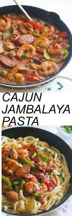 Cheese Cake Factory Cajun Jambalaya Pasta - Quick and Easy  with chicken, shrimp and Sausage, vegetables, infused with spices and aromatics . An incredibly flavorful meal in no time . #chickenfoodrecipes