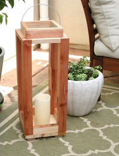 a tutorial on how To make this rustic outdoor lantern...it costs pennies and can be done in about an hour...