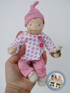 Suitcase set with tiny baby doll by Lalinda.pl