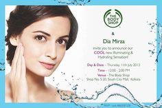 Dia Mirza launches The Body Shop Cool New Illuminating & Hydrating Sensation at South City Mall, Kolkata on 11 July 2013 | Events in Kolkata / Calcutta | mallsmarket.com