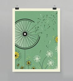 Windblown Artcrank Poster 18x24 Screenprint by GuyandGallery, $37.00