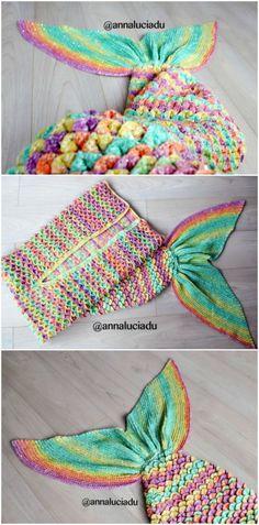 Crochet Mermaid Blanket Tutorial Youtube Video DIY