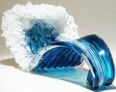 Ondas do mar e vida marinha nas incríveis esculturas de vidro do casal Marsha Blaker e Paul DeSomma
