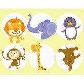Found it at Wayfair - Zoo Animals Wall Art Print