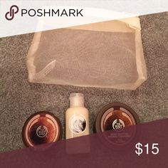 The body shop bundle Ever used, miniature bottles of body scrub body butter and shower cream body shop  Other