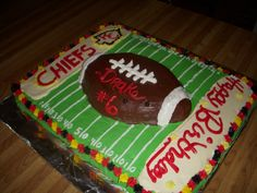 Kansas City Chiefs Birthday cake
