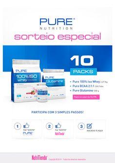 *SORTEIO DE NOVEMBRO* 10 PACKS da Pure Nutrition!  Queres ganhar um destes incríveis packs avaliados em 93,97€ cada um? Participa com 3 simples passos!  1-Segue a Pure Nutrition: https://www.facebook.com/PureNutritionEU 2-Segue a NutriTienda: https://www.facebook.com/NutriTiendaPT 3-Inscreve-te aqui: https://www.nutritienda.com/pt/sorteo-nov-2014