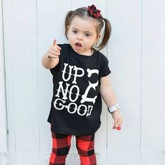 Up 2 No Good  Shirts for Toddlers Baby Boy by LittleGrungeClothing