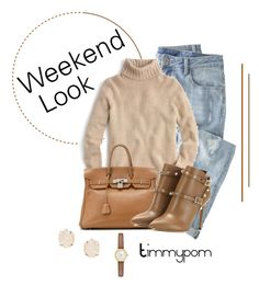 """Weekend..."" by timmypom ❤ liked on Polyvore featuring mode, Wrap, J.Crew, Hermès, Valentino, Kendra Scott et Kate Spade"