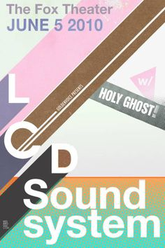 LCD Sound System / concert poster