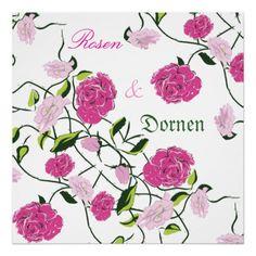 Kunstdruck, Rosen & Dornen.