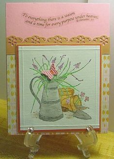 Ecclesiastes by Maxell - Cards and Paper Crafts at Splitcoaststampers Ecclesiastes 3, Mat Paper, Long Time Friends, Basic Grey, Watercolor Pencils, Stamp Sets, Paper Design, Homemade Cards, Stampin Up Cards