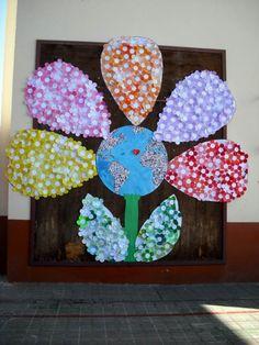 Mural Día de la Paz en el CEIP San Juan de Telde TELDEACTUALIDAD