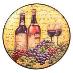 Wine for Two Decorative Plate  sc 1 st  Pinterest & Time for Wine Decorative Plate | New House Furniture \u0026 Decor ...