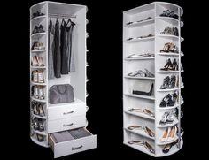 Inspiration for rotating closet storage